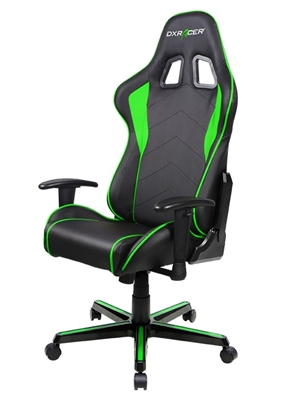 Cadeira F-Series FL08/NE Black/Green - DXRacer