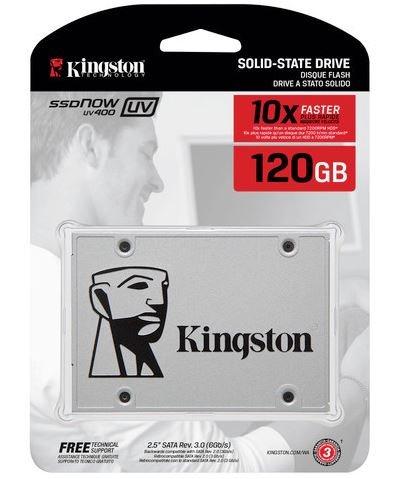 SSD 120GB UV400 Sata III 2,5 7mm SUV400S37/120GB 550MB Leitura e 350MB Gravação - Kingston