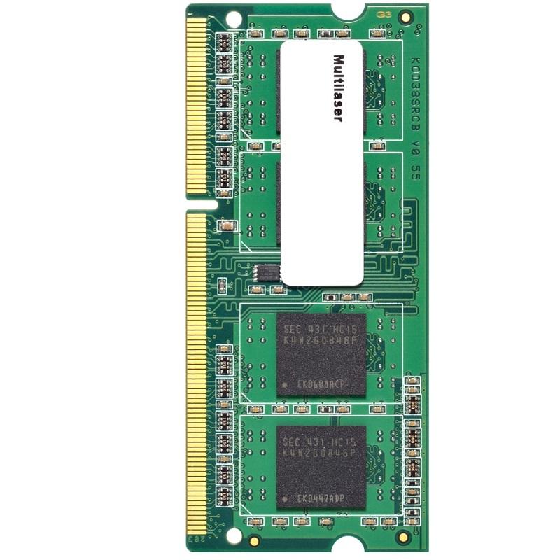 Memória 4GB 1600Mhz DDR3 p/ Notebook CL11 MM420 - Multilaser
