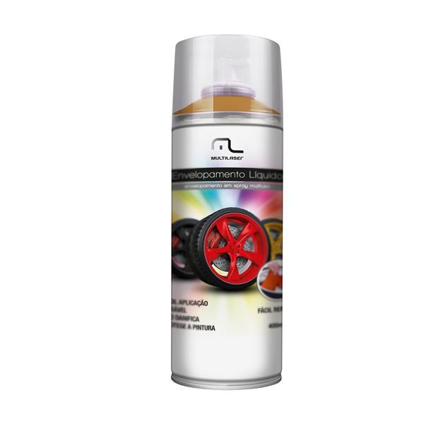 Spray Envelopamento Liquido Dourado Fosco 400ml AU422 - Multilaser