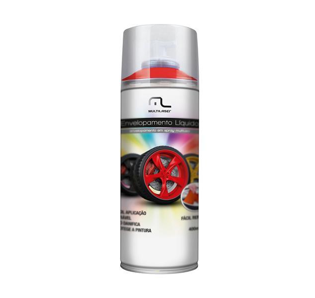 Spray Envelopamento Liquido Vermelho Fluorescente 400ml AU424 - Multilaser