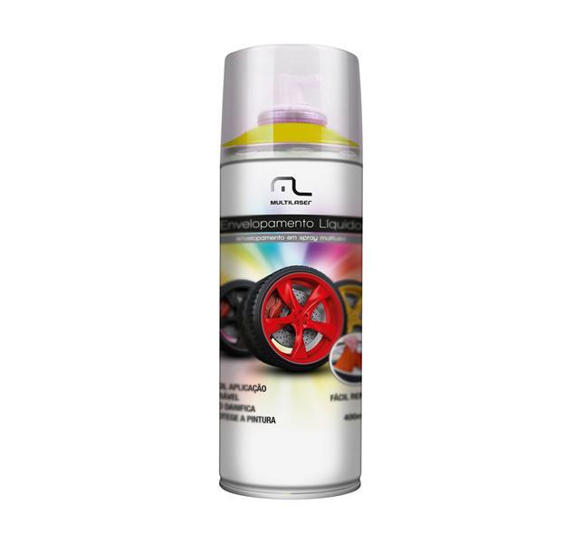 Spray Envelopamento Liquido Amarelo Fluorescente 400ml AU427 - Multilaser