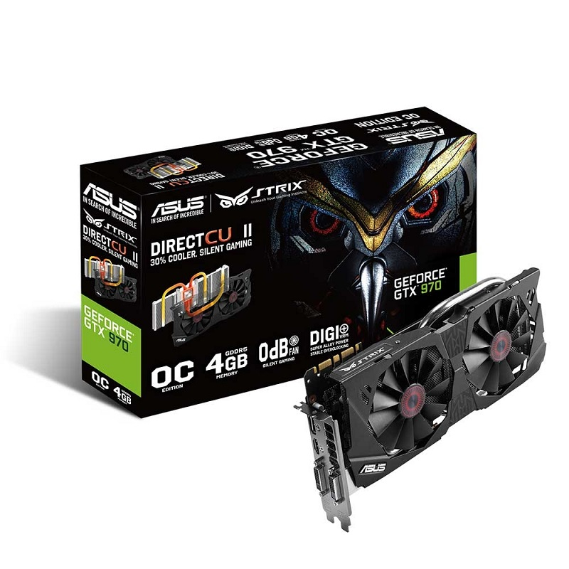 Placa de Vídeo Geforce GTX970 OC 4GB DDR5 256Bits 4K PCI-E 3.0 STRIX-GTX970-DC2OC-4GD5 - Asus