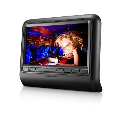 DVD Player 9 Polegadas para Descanso de Cabeca Preto AU705 - Multilaser