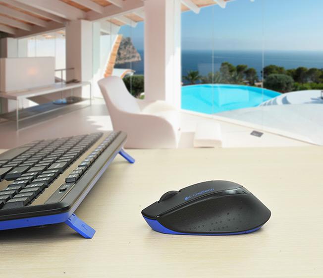 Teclado e Mouse Wireless MK345 Preto - Logitech