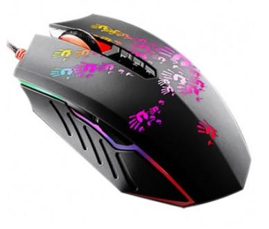 Mouse Gamer Bloody Blazing A6A 8 Botões 4000CPI Preto - A4tech