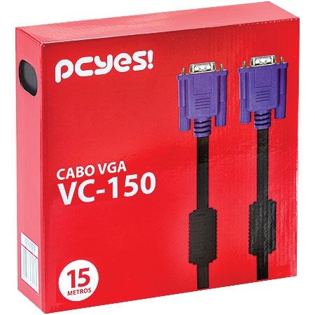 Cabo VGA para Monitor HD15M X HD15M 15 metros 21481 - Pcyes