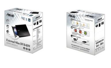 Gravadora de DVD-RW Externa Stylish Diamond 8X SDRW-08D2S-U/BLK/G/AS - Asus