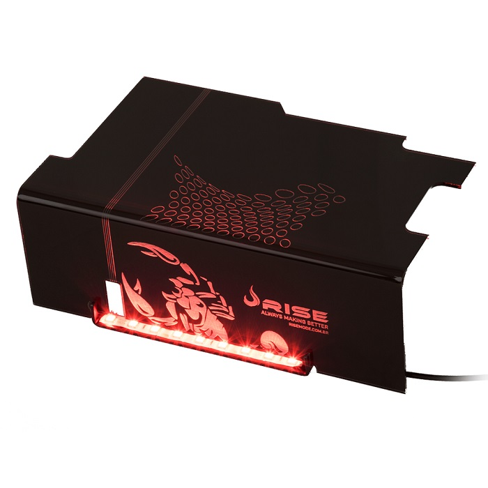 Cover PSU Scorpion Fire (LED Vermelho) RG-CP-01-SK - Rise Mode