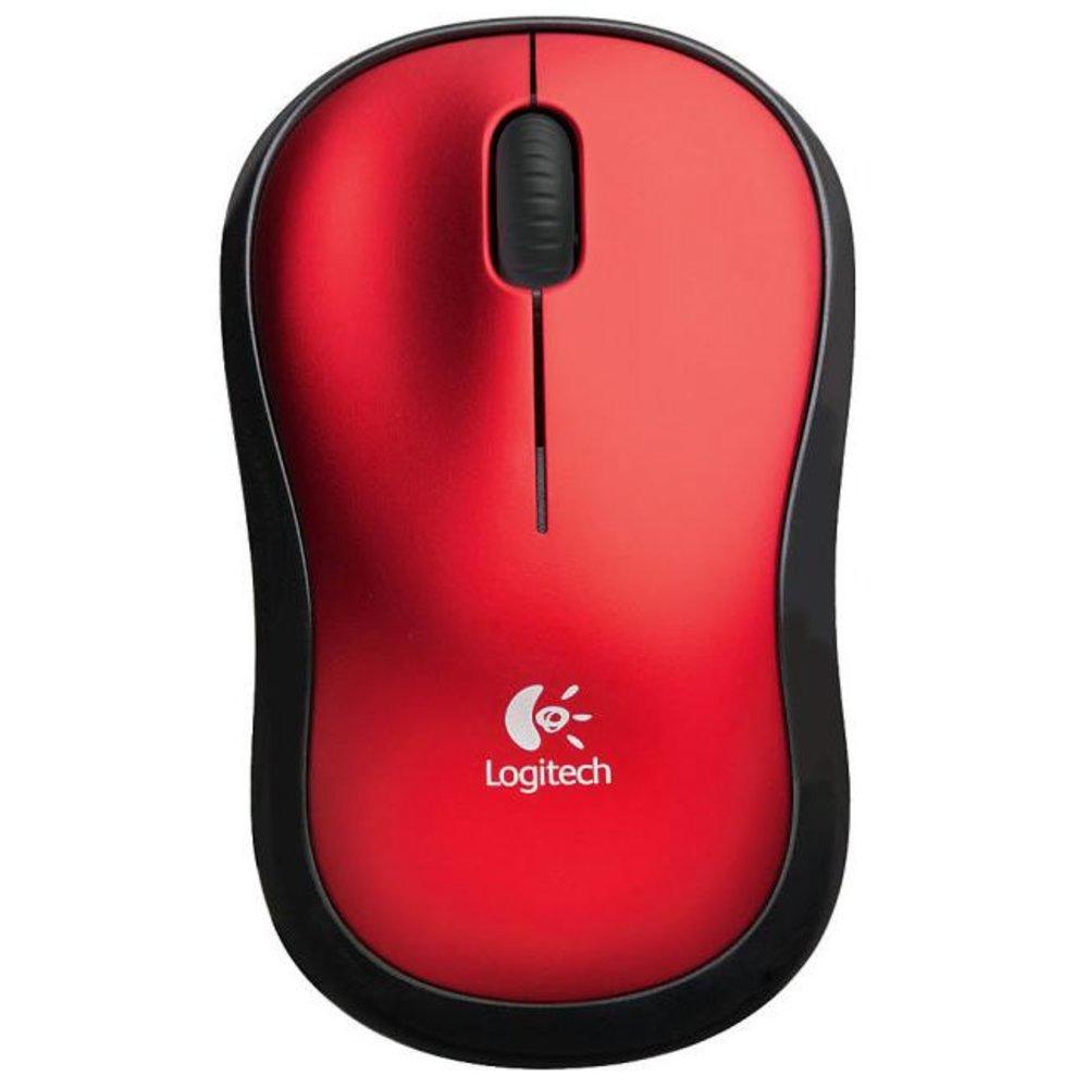 Mouse Wireless Óptico M185 Vermelho - Logitech