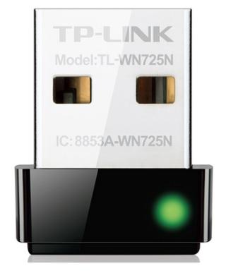 Adaptador Nano Wireless N USB 150 Mbps TL-WN725N - TP-Link