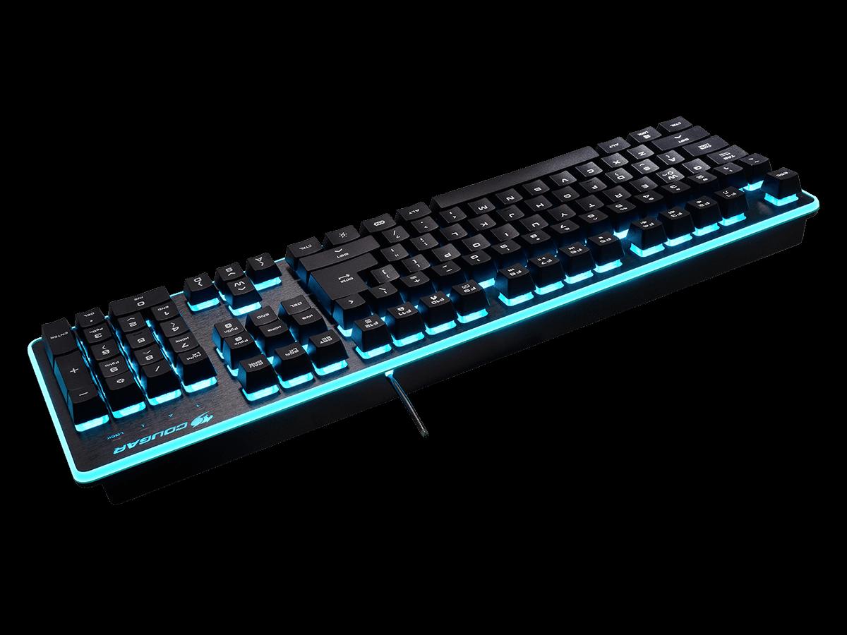 Combo Teclado + Mouse Deathfire LED 7 Cores (Switch Mecânico Híbrido - Padrão US) CGR-WXNMB-COM - Cougar