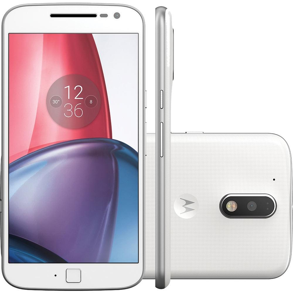 Smartphone Moto G 4 Geração Plus XT1640 Octa Core, Android 6.0, Tela 5.5, 32GB, 16MP, 4G, Branco - Motorola