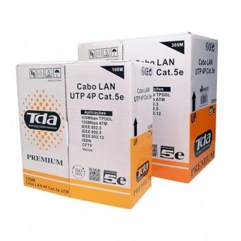 Caixa de Cabo de Rede CAT 5E UTP Preto 4 Pares 24 AWG 305 Metros CMX - Tenda