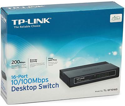 Switch 16 Portas 10/100 Mbps TL-SF1016D - Tplink
