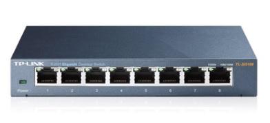 Switch 8 Portas 10/100/1000 Gigabit TL-SG108 - Tplink