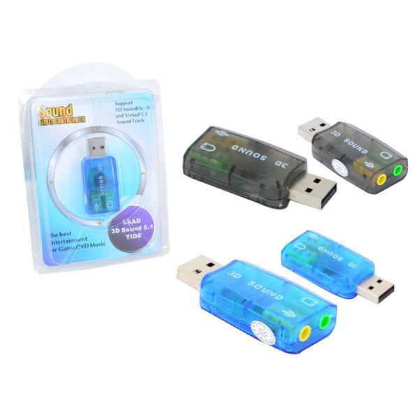 Adaptador de Som USB 5.1 AC-3 AD0085 - 1 Mais