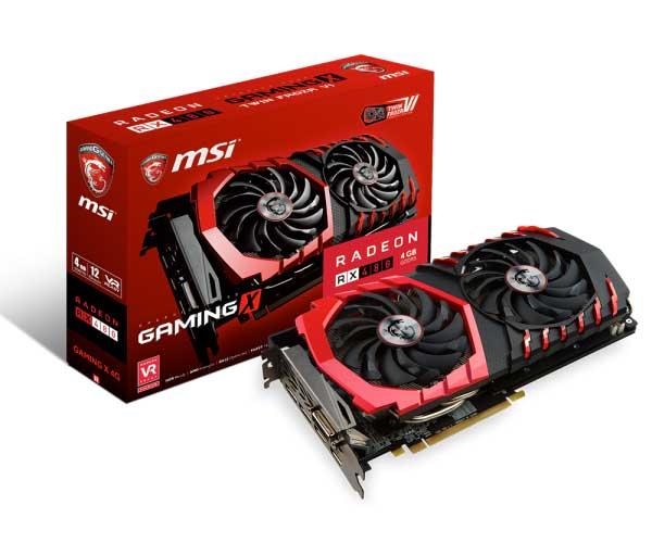 Placa de Vídeo Radeon RX 480 Gaming X 4G 256Bits - MSI
