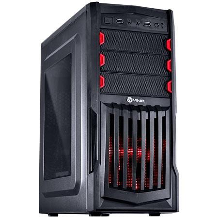 Gabinete Mid Tower VX Gaming Thunder V2 Preto e Vermelho USB 3.0 Janela Acrílica 25346 - Vinik