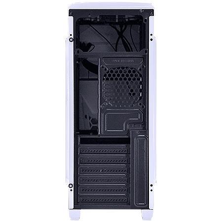 Gabinete Mid Tower VX Gamer Twister V2 Branco USB 3.0 Janela Acrílica 25347 - Vinik
