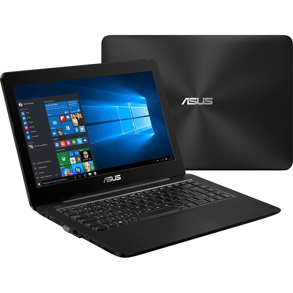 Notebook Intel Core i3 4GB 1TB LED 14 Windows 10 Preto Z450LA-WX009T  - Asus