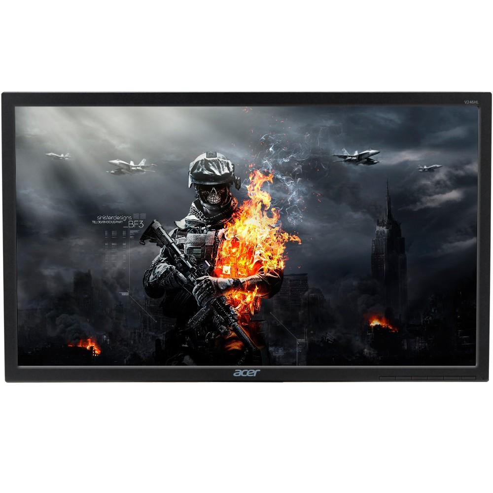 Monitor Gamer LED 24 Full HD, 5ms, VGA/DVI/HDMI, eColor, ENERGY STAR, Preto V246HL - Acer