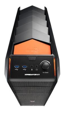 Gabinete Gamer ATX s/ Fonte X-Predator X1 Evil Black EN57073 - Aerocool