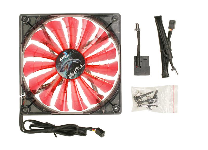 Cooler Shark Fan Devil Red Edition 120mm (LED Vermelho) EN55437 - Aerocool