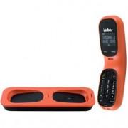 Telefone Sem Fio Digital Com Identificacao de Chamadas e Viva Voz Dect 6.0 TS80V Vermelho Coral - Intelbras