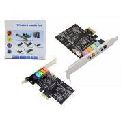 Placa de Som PCI-Express com 5 Canais PC0041 - OEM