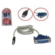 Conversor USB 2.0 para Serial DB25 Fêmea 1.5 Metros AD0286 - OEM