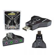 Adaptador de Som 7.1 USB AD0002 - OEM