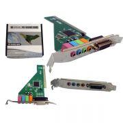 Placa de Som PCI 4 Canais SK-CR4280 PC0002 - Lotus