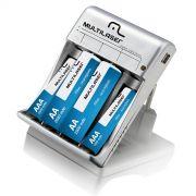 Carregador De Pilhas 2X AA+ AAA+ Saída USB CB073 - Multilaser
