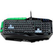 Teclado Profissional Gamer com led Preto e Verde TC199 - Multilaser