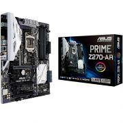 Placa Mãe LGA 1151 Prime Z270-AR, DDR4, Safe Slot, ThunderboltEX, Áudio DTS, Aura - Asus