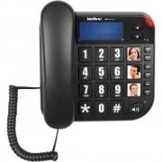 Telefone com Fio Tok Facil ID Preto - Intelbras