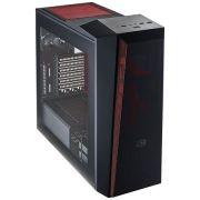 Gabinete Gamer Masterbox 5T Lateral em Acrilico Preto/Vermelho MCX-B5S3T-RWNN - Cooler Master