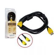 Cabo HDMI 3 Metros 2.0 Blindado sem Malha com Filtro CBX-HX30SM CB0352 - Exbom