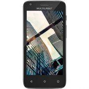 Smartphone MS45S Quad Core 1.3Ghz, 1GB RAM, 8GB de Memória Interna, 4,5' Preto/Vermelho NB234 - Multilaser