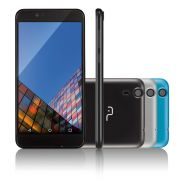 Smartphone MS55 Colors Preto Tela 5,5 Câmera 5.0 MP+8.0MP 3G Quad Core 8GB + 16GB SD Card P9003 (NB232) - Multilaser