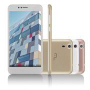 Smartphone MS55 Colors Dourado/Branco Tela 5,5 Câmera 5.0 MP+8.0MP 3G Quad Core 8GB + 16GB SD Card (NB233) - Multilaser