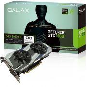 Placa de Vídeo GeForce GTX 1060 OC Entusiasta 6GB DDR5 192Bits 8008Mhz 60NRH7DSL9OC - Galax