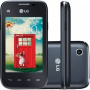 SALD�O ! Celular L35 Dual TV D157 Preto com Tela de 3,2, Dual Chip, TV Digital, Android 4.4, Camera