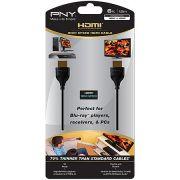 Cabo HDMI 19 Pinos M/M Ultra Fino Compatível com Vídeo 3D e Áudio 7.1 e 5.1 Canais C-H-P10-A06-H - PNY