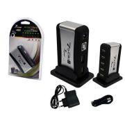 Hub USB 7 Portas Com Fonte HUB7 HB-T68 - KNUP