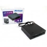 Leitor de Cartao de Memoria Interno C/Porta USB AC069 - Multilaser
