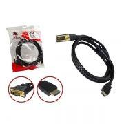 Cabo Conversor De HDMI Para DVI 24+1 Com Filtro De 1.80 Metros CB0050 - OEM