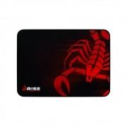 Mouse Pad Rise Gaming Scorpion Red Médio em Fibertek Costurado RG-MP-04-SR - Rise Mode