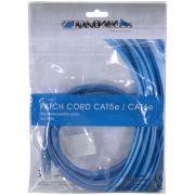 Patch Cord U/UTP CAT5E CMX 1,5 Metros Azul 26729 - Nano Access